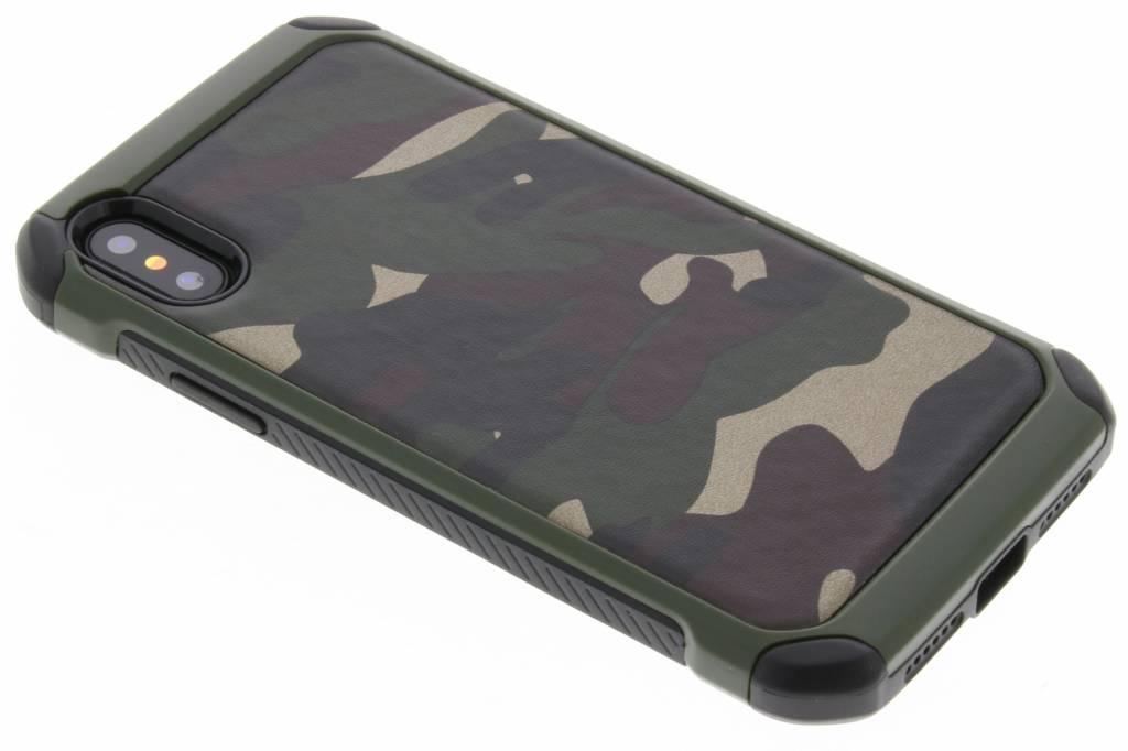 Groen army defender hardcase hoesje voor de iPhone X