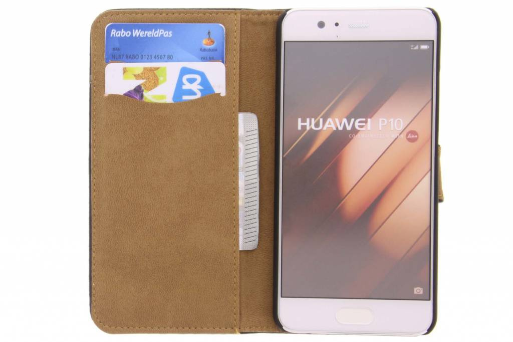 Conception Glamour Rouge Booktype Cas Pour Huawei P10 358dFhF