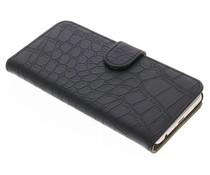 Zwart krokodil booktype hoes Huawei P10
