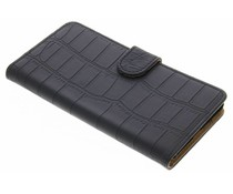 Zwart krokodil booktype hoes Nokia 5