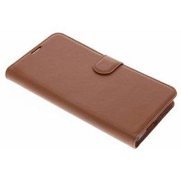 Brown Type De Livre Litchi Cas Pour Wiko Robby fASWVgL