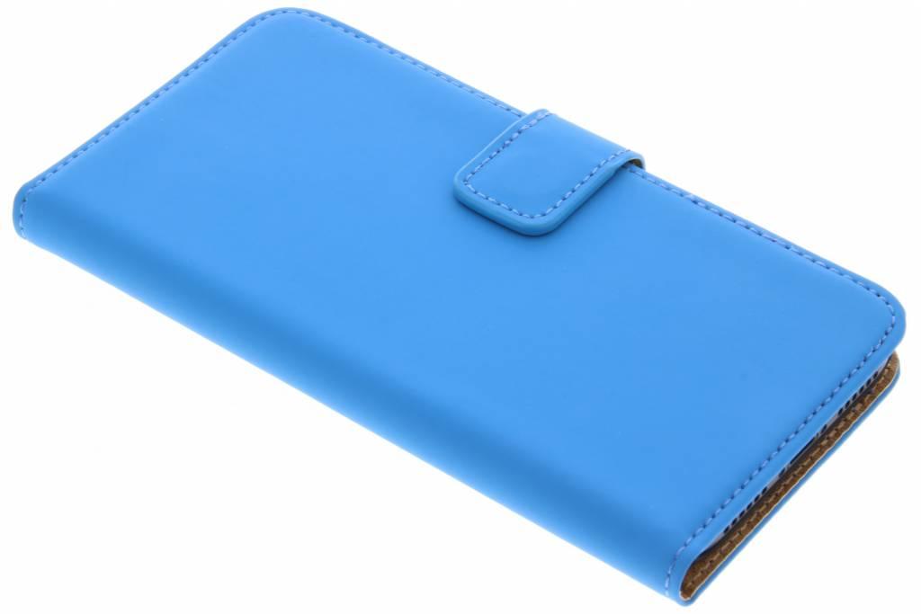 Selencia Blauwe Luxe Book Case voor de iPhone Xs / X