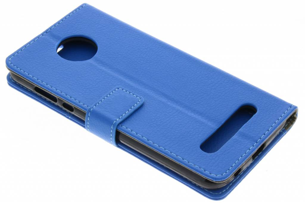 Blauwe TPU Bookcase voor de Motorola Moto Z2 Play