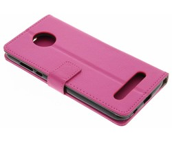 Roze TPU Bookcase Motorola Moto Z2 Play
