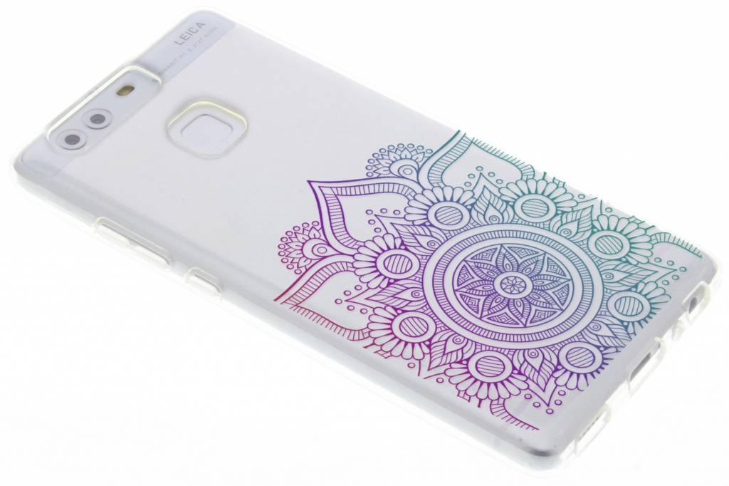 Multicolor mandala design TPU hoesje voor de Huawei P9