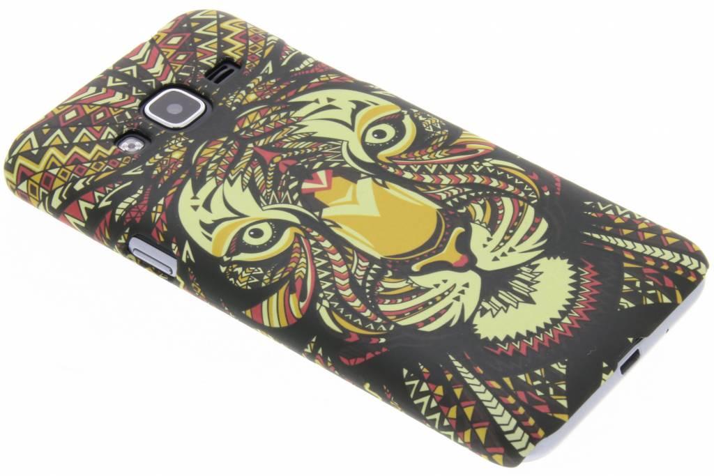 Tijger aztec animal design hardcase hoesje voor de Samsung Galaxy J3 / J3 (2016)