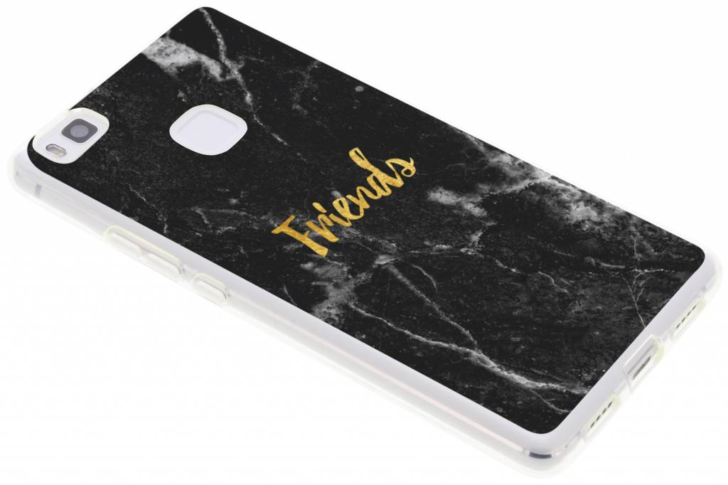 BFF Black Marble Love TPU hoesje voor de Huawei P9 Lite