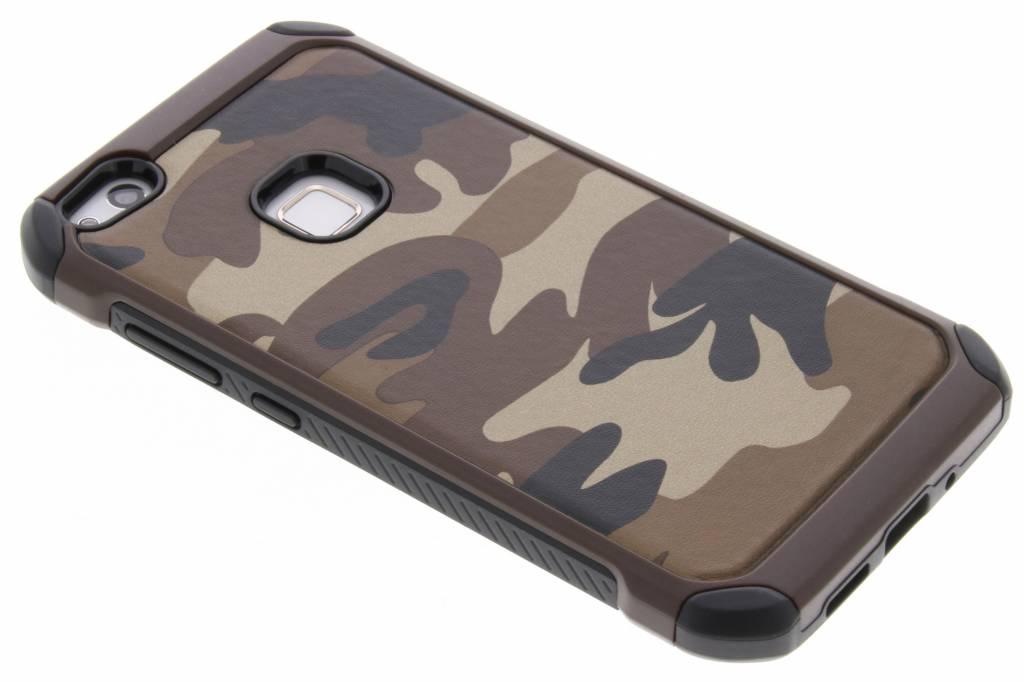 Bruin army defender hardcase hoesje voor de Huawei P10 Lite