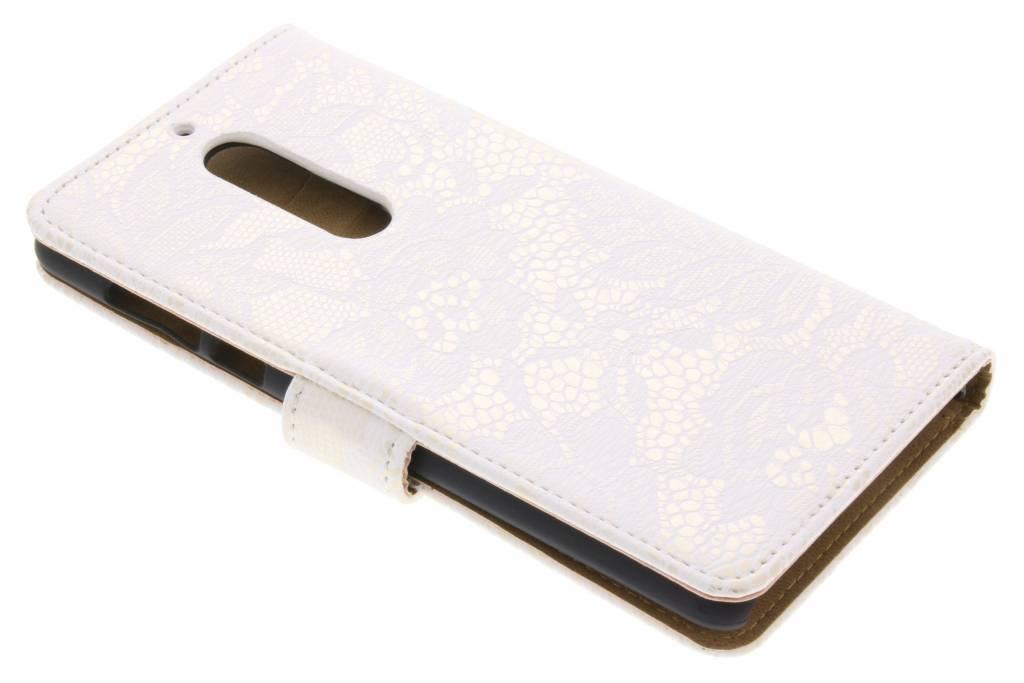 Design Blanc Glamour Booktype Pour Nokia 5 VKEajhtJ