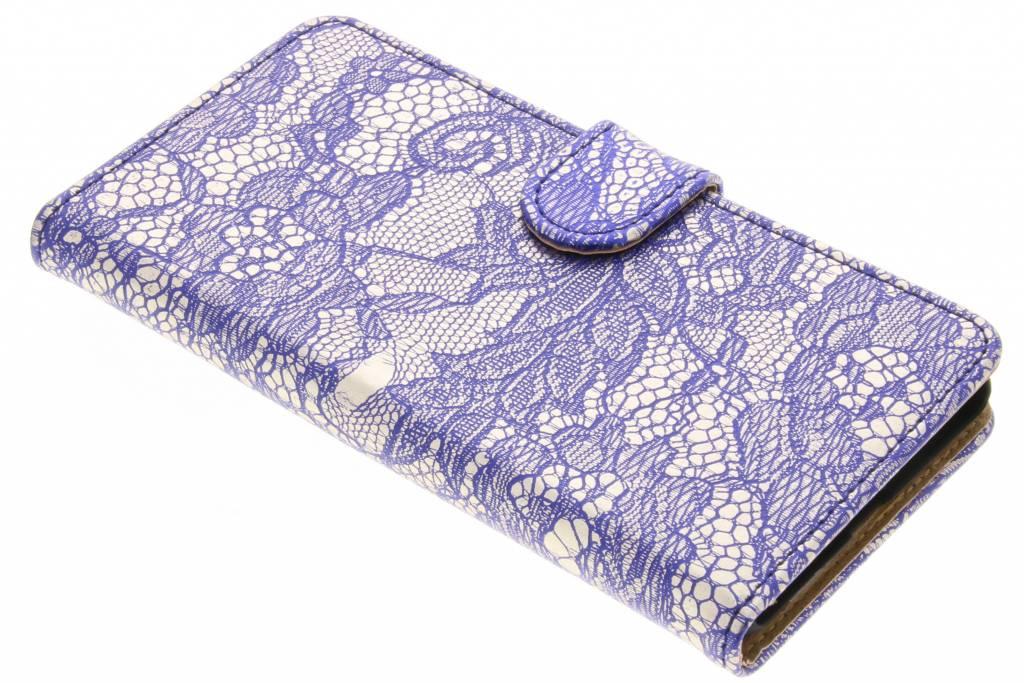 Blauwe Glamour Design booktype voor de Nokia 5