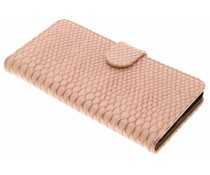 Roze slangen booktype hoes Nokia 5