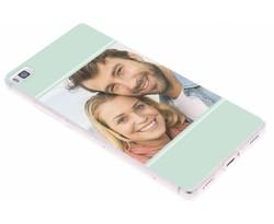Ontwerp uw eigen Huawei P8 gel hoesje (bedrukt)