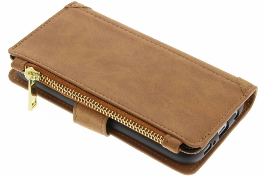 Bruine luxe portemonnee hoes voor de iPhone Xs / X