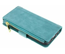 Turquoise luxe portemonnee hoes iPhone X