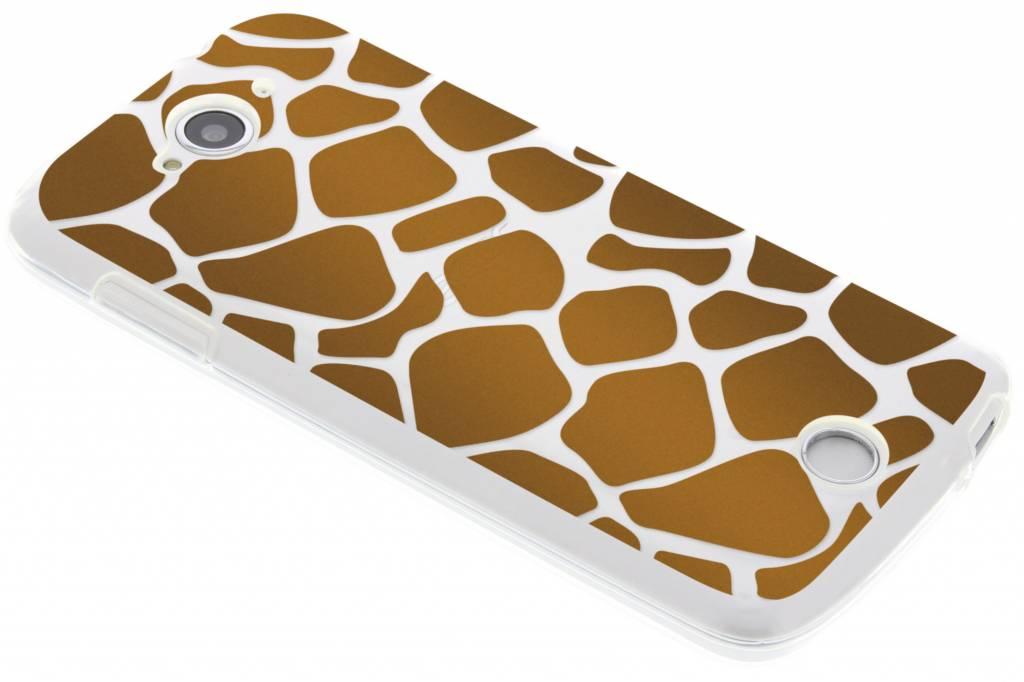 Animaux Brun Conception Imprimé Girafe De Cas De Tpu Pour Acer Liquid Z530 ulIpdL