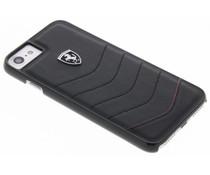 Ferrari Zwart Scuderia Leather Hard Case iPhone 8 / 7