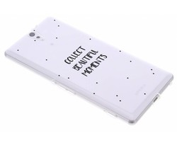 Quote design TPU hoesje Sony Xperia C5 Ultra