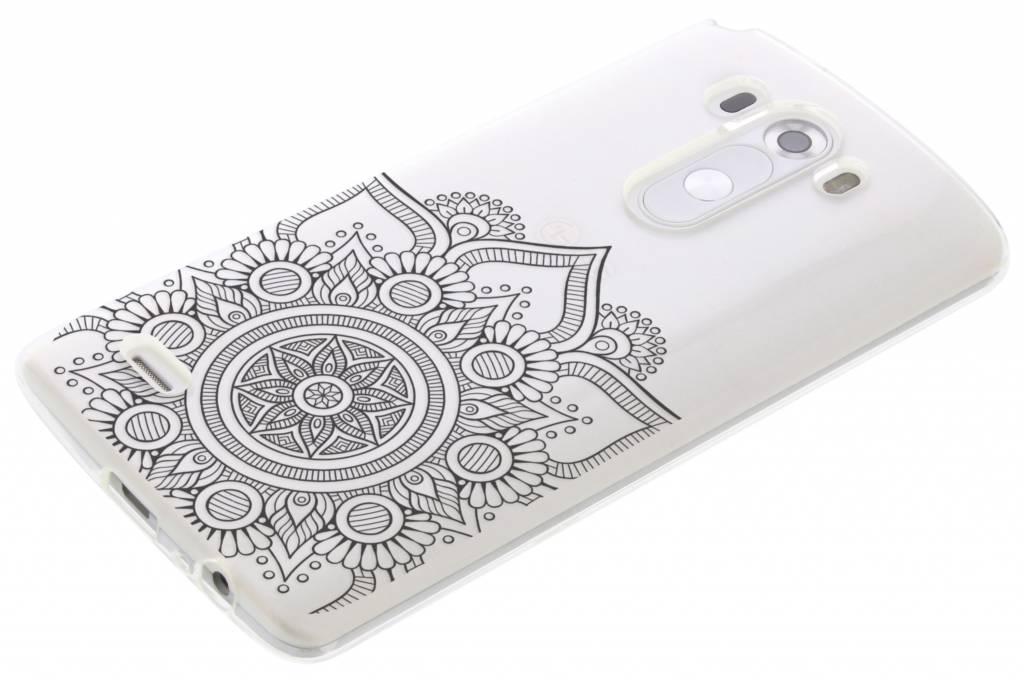 Zwart mandala design TPU hoesje voor de LG G3