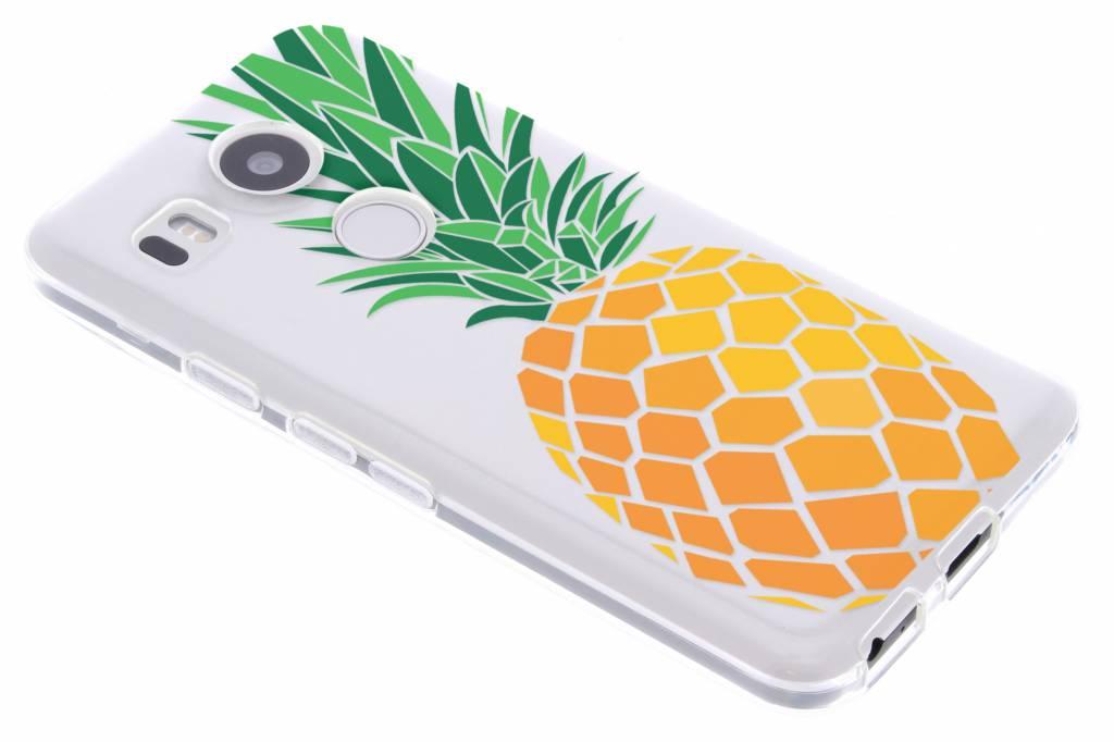 Transparant ananas design TPU hoesje voor de LG Nexus 5X