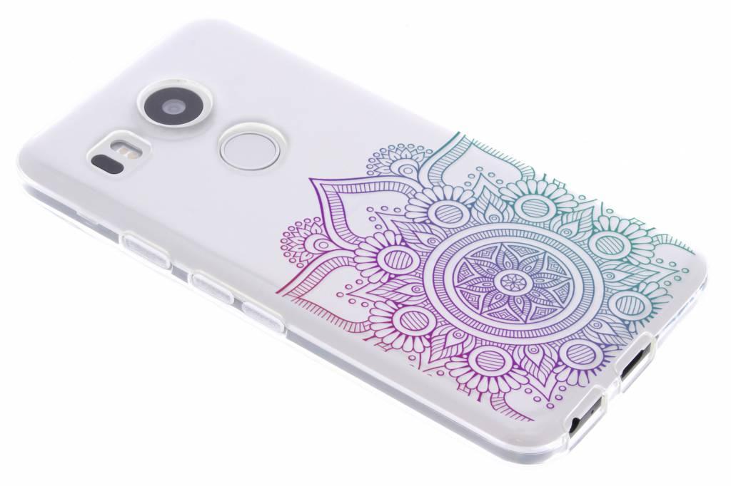Multicolor mandala design TPU hoesje voor de LG Nexus 5X