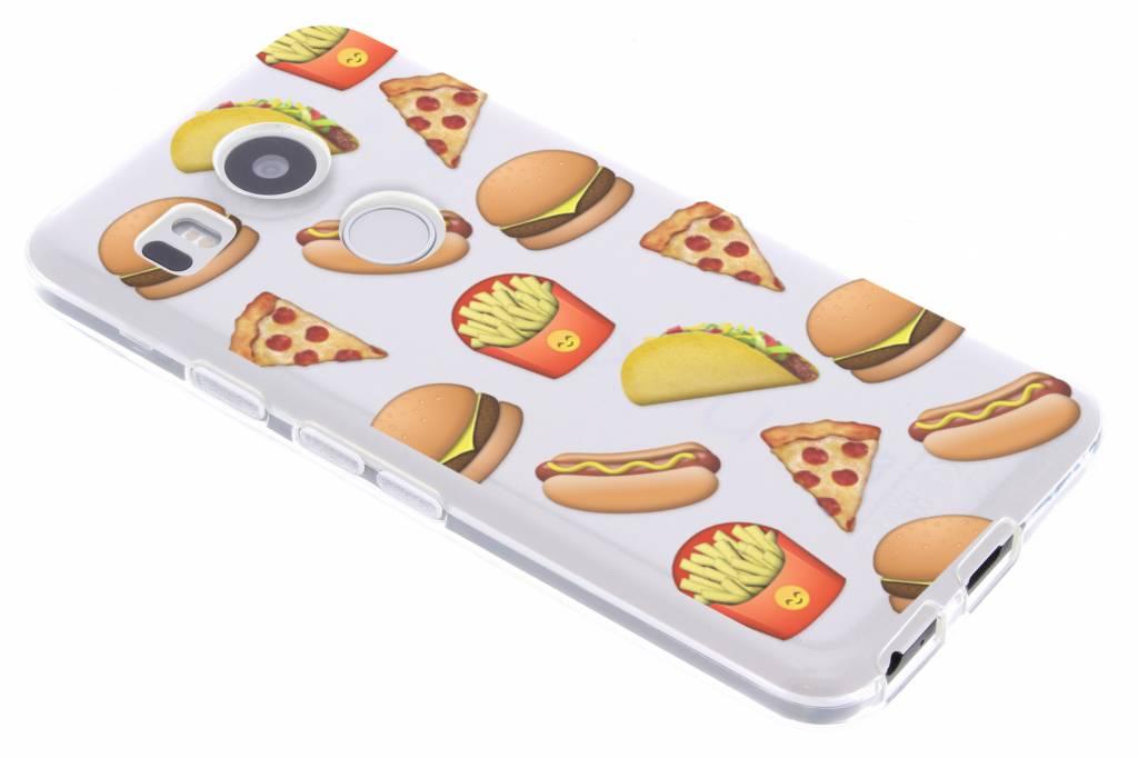 Emoji Fast Food design TPU hoesje voor de LG Nexus 5X