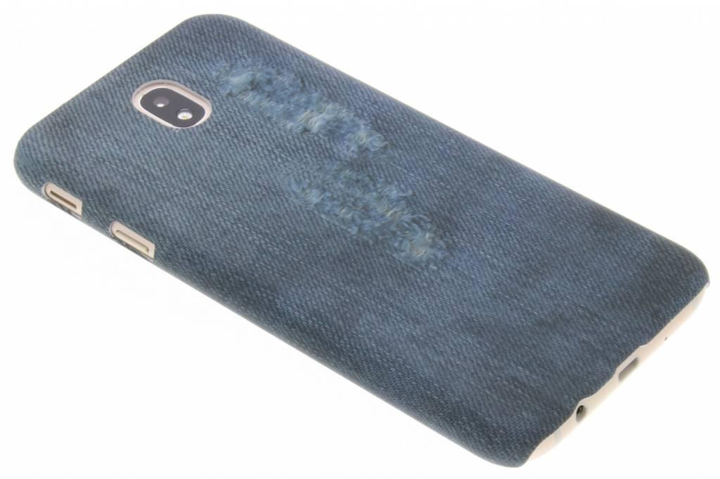 Jeans design hardcase hoesje voor de Samsung Galaxy J7 (2017)