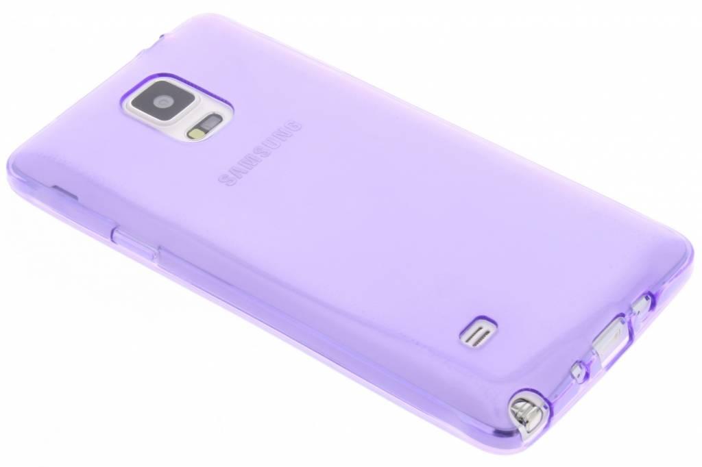 Paarse transparante gel case voor de Samsung Galaxy Note 4