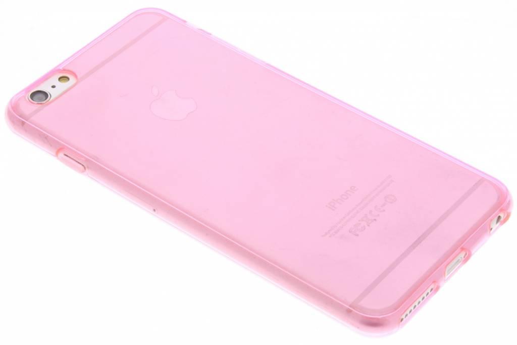 Roze transparante gel case voor de iPhone 6(s) Plus