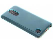 Turquoise transparant gel case LG K10 (2017)