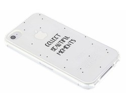 Quote design TPU hoesje iPhone 4 / 4s