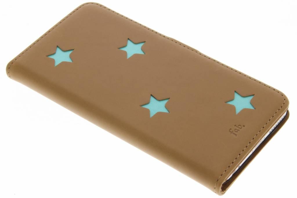 Aqua Reversed Star Booktype hoes voor de iPhone 6(s) Plus