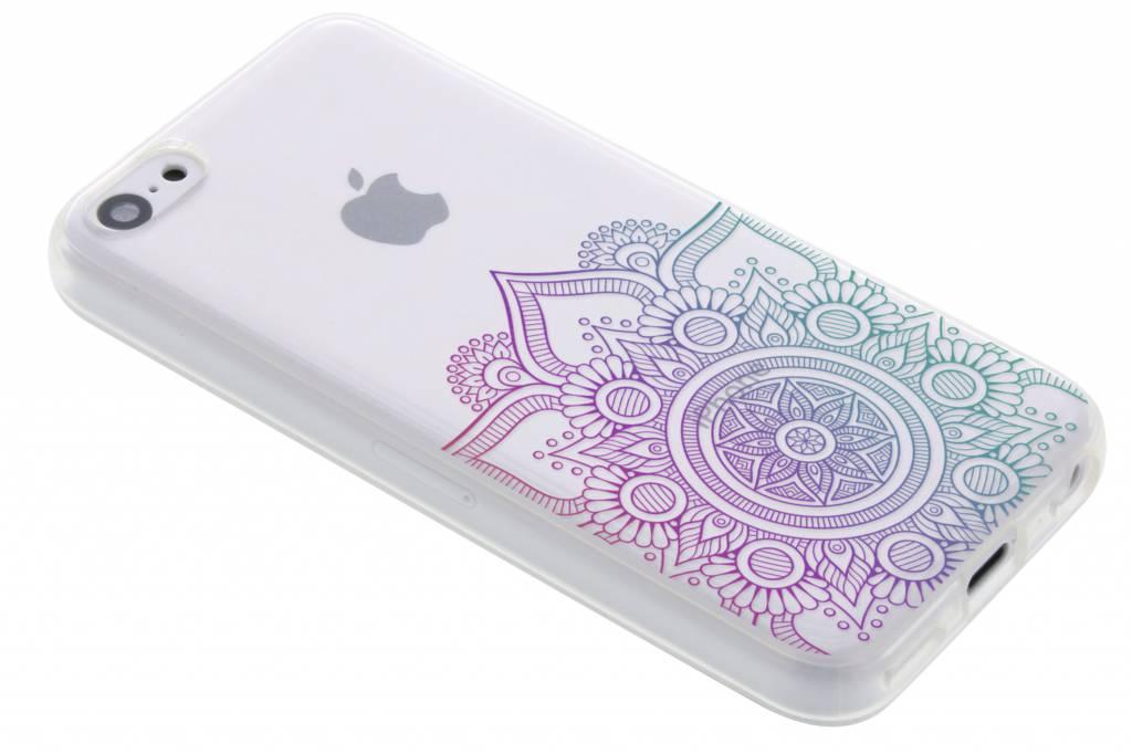 Multicolor mandala design TPU hoesje voor de iPhone 5c
