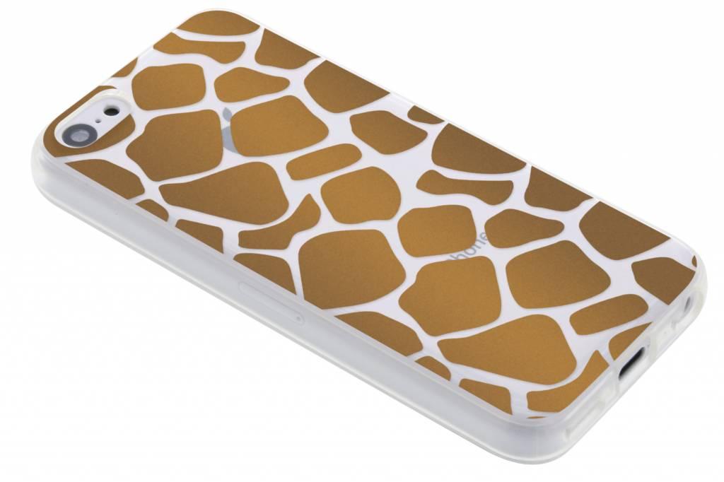 Bruin dierenprint design Giraffe TPU hoesje voor de iPhone 5c