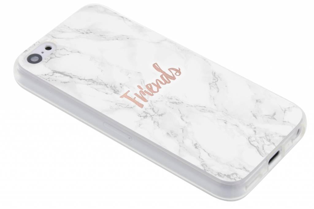 BFF White Marble Love TPU hoesje voor de iPhone 5c