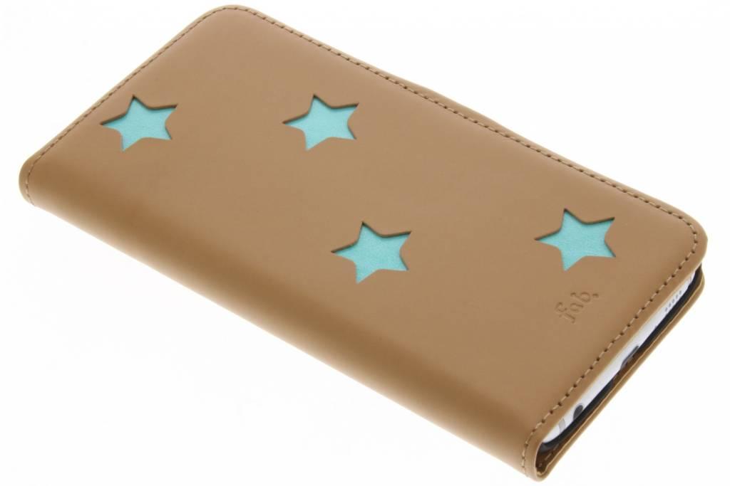 Brown Inversé Booktype Étoiles Pour Samsung Galaxy S6 oEMT9
