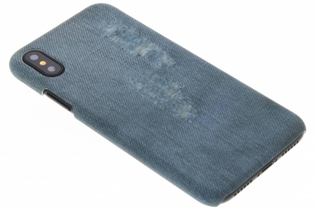 Jeans design hardcase hoesje voor de iPhone Xs / X