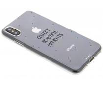 Quote design TPU hoesje iPhone X
