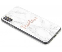 Quote design TPU hoesje iPhone X
