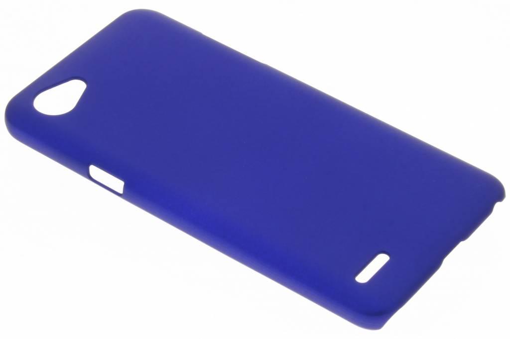 Blauw effen hardcase hoesje voor de LG Q6