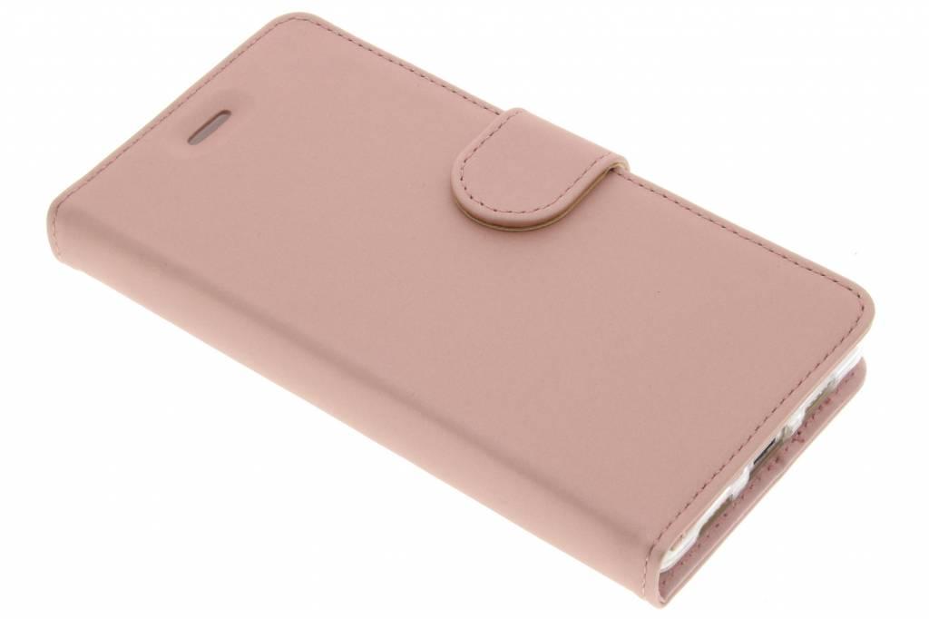 Accezz Wallet TPU Booklet voor de Huawei P8 Lite - Rosé Goud
