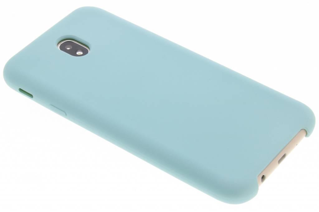 Blauwe siliconen hoes voor de Samsung Galaxy J7 (2017)