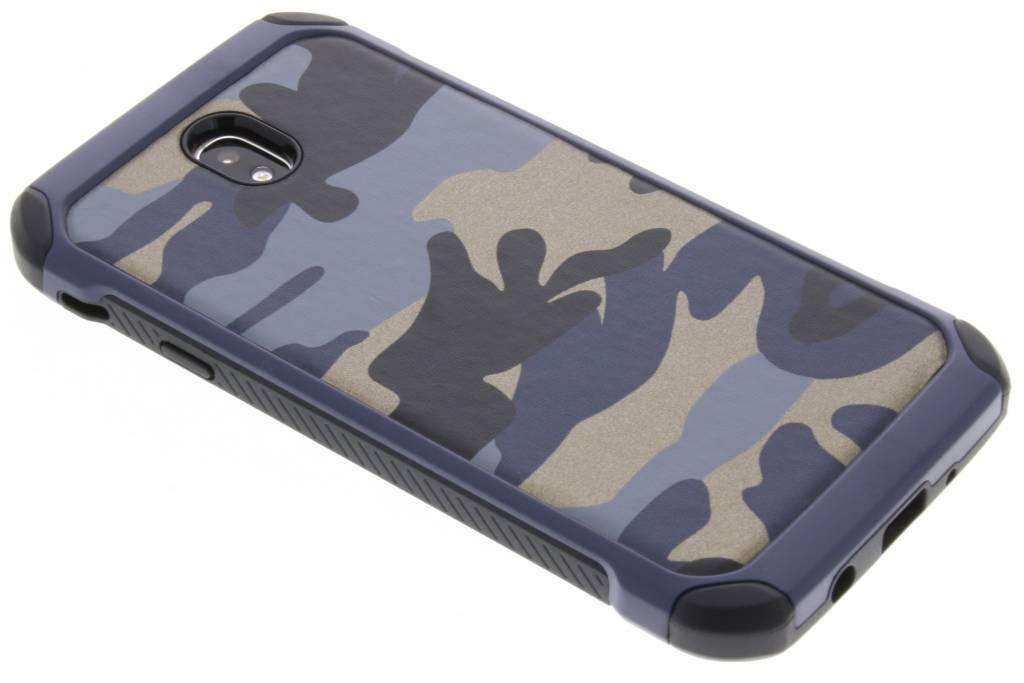 Blauw army defender hardcase hoesje voor de Samsung Galaxy J7 (2017)
