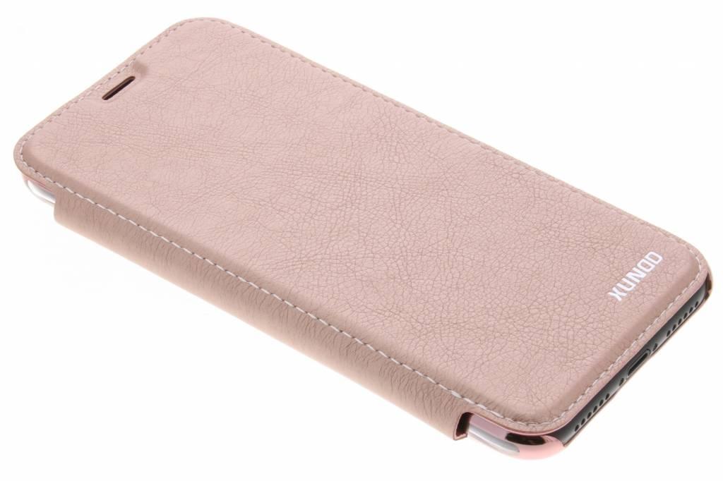 Roze crystal slim book case voor de iPhone X