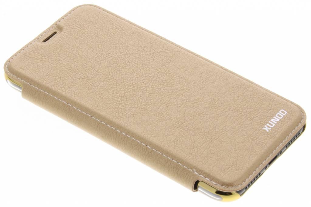 Gouden crystal slim book case voor de iPhone X