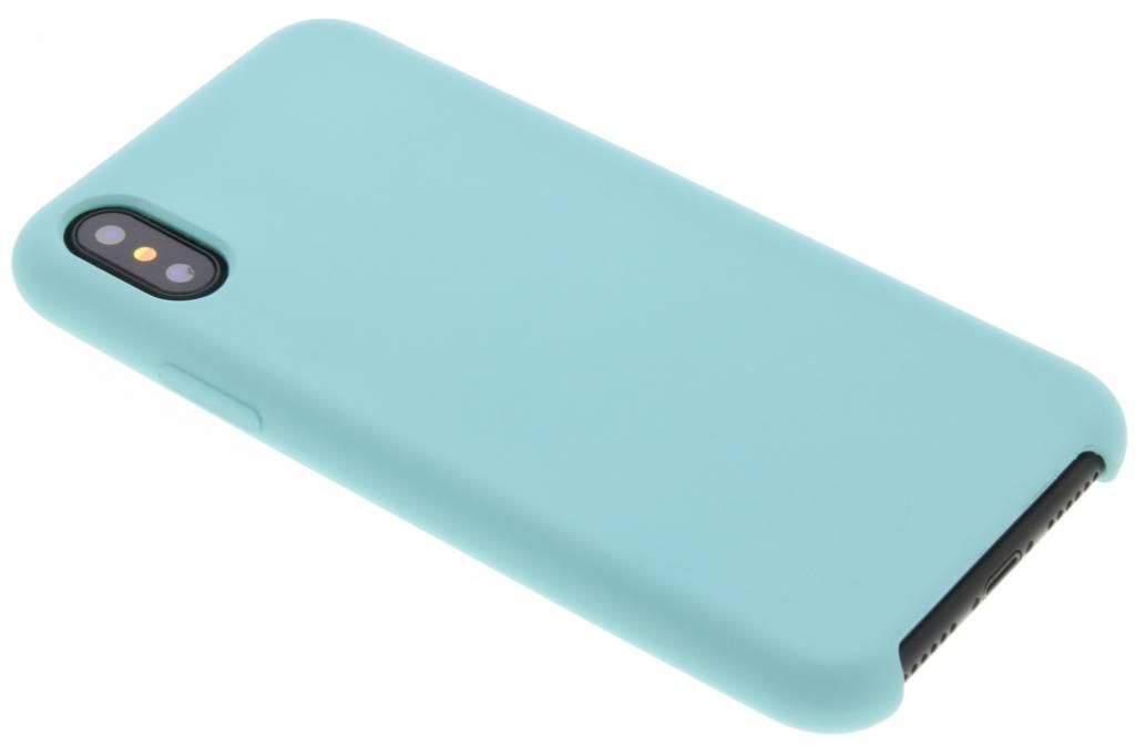 Blauwe siliconen hoes voor de iPhone X