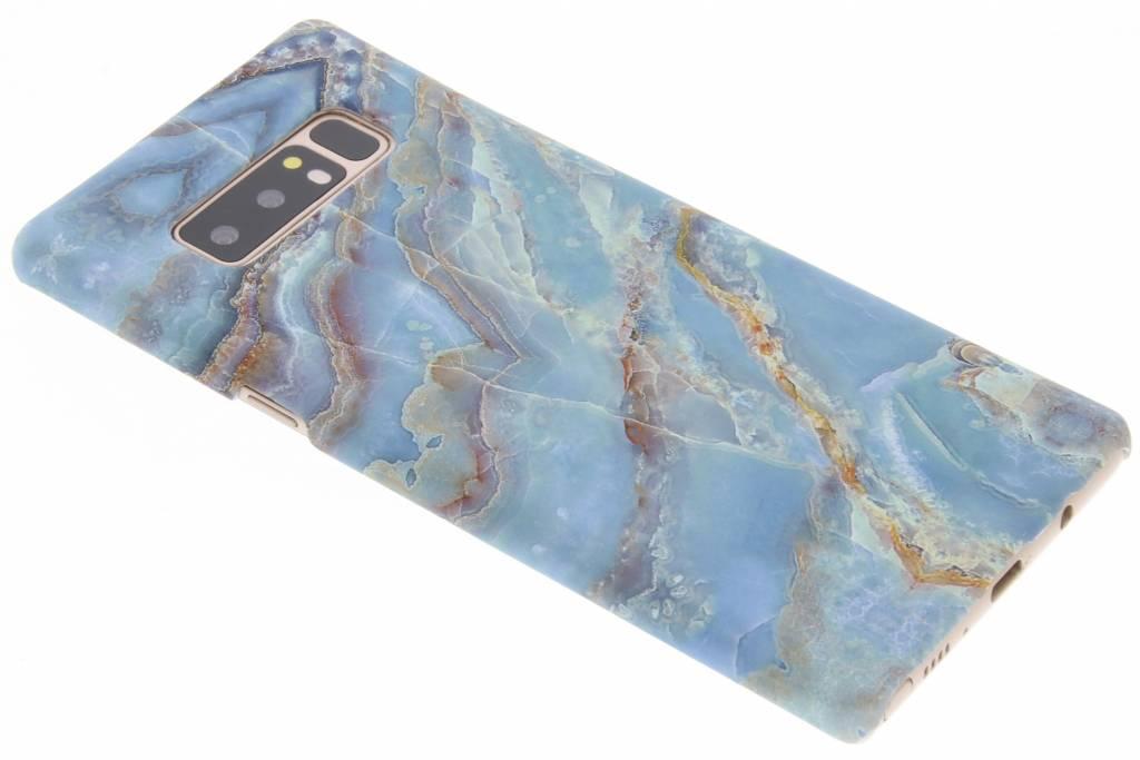 Blauw marmer design hardcase hoesje voor de Samsung Galaxy Note 8