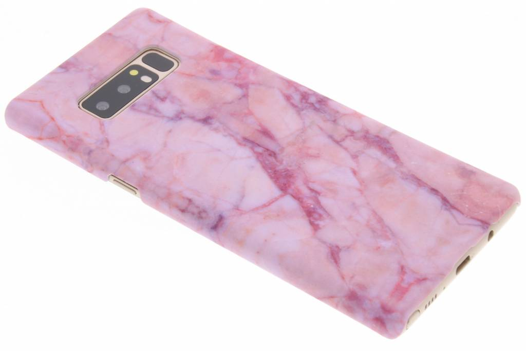 Roze marmer design hardcase hoesje voor de Samsung Galaxy Note 8