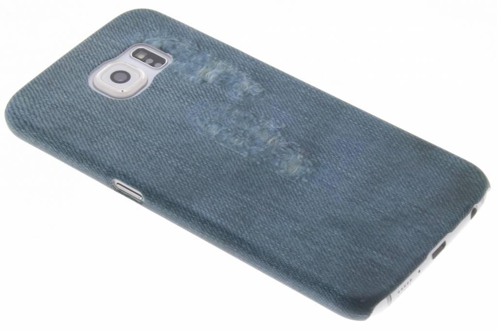 Jeans design hardcase hoesje voor de Samsung Galaxy S6