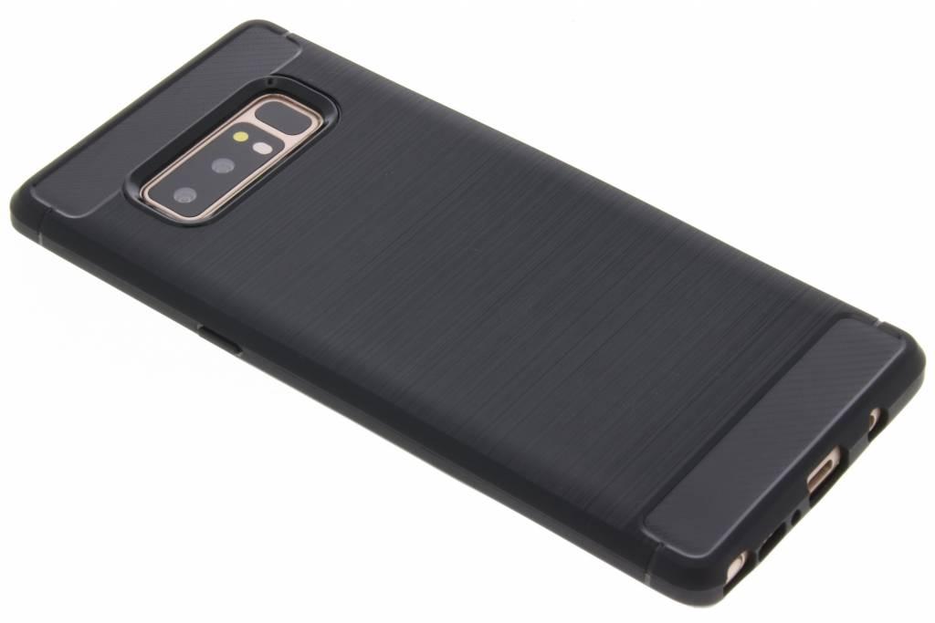 Zwarte Brushed TPU case voor de Samsung Galaxy Note 8