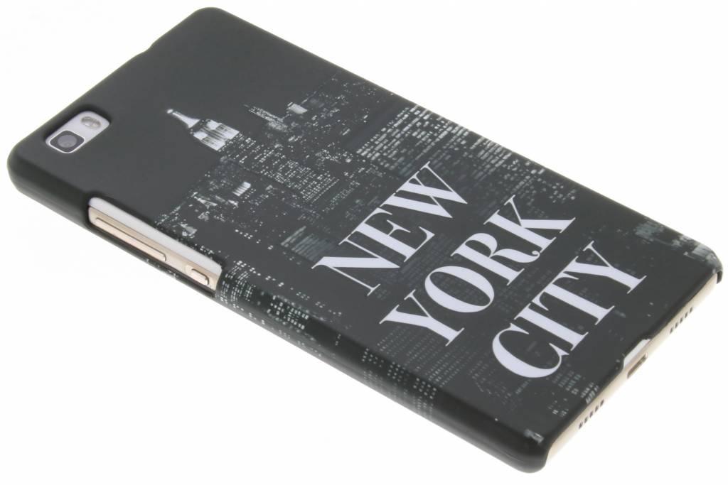 New York design hardcase hoesje voor de Huawei P8 Lite